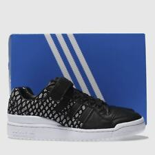 online store 38fed 5998a Adidas Black  White Forum Lo Trainers - Size UK 5 EU 38