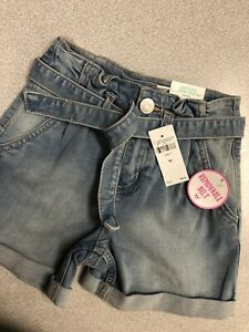 Justice Jean Shorts 7 Midi With Removeable Belt NWT