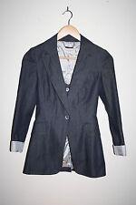 Karen Millen Classic Jacket Graphite Striped Women's Fashion Designer Size 6