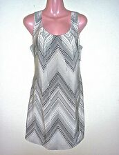NWT $328 Trina Turk Black & White Geometric Stripe Silk Dress 10