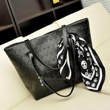 Womens Black Skull Handbag Messenger Crossbody Shoulder Bags Clutch Tote PUNK