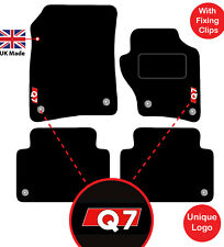 Audi Q7 2006 to 2015 Tailored Car Mats  S line logo Carpet Floor 8 clips