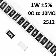 2512 SMD/SMT Resistors 1W Chip Resistance ±5%- Range of ( 0Ω to 10MΩ )