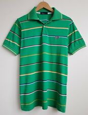 FRED PERRY MENS GREEN POLO SHIRT TOP SIZE M-L