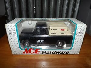 ERTL, ACE HARDWARE 1955 CHEVY CAMEO PICKUP TRUCK BANK, 1/25 SCALE, NIP, 1994