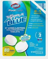 "Clorox Pool & Spa XtraBlue 3"" Chlorinating Tablets 40lbs 6 in 1 Water Treatment"