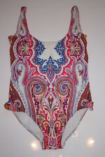 NEW £255 Harrods Auth ETRO Swimsuit One-Piece IT44/UK12-14 Pink Swimming Costume