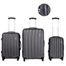 3 Pcs Set Hardside Luggage Travel Carry on Bag Trolley Spinner Suitcase TSA Lock