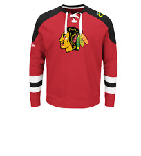 NHL Chicago Blackhawks Centre Lace-Up Sweatshirt Hockey Jersey New Mens 4XL