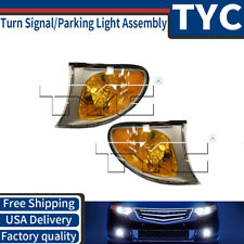 TYC 2X Front Left Right Turn Signal / Parking Light Assembly For 02-05 BMW 320i