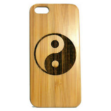 Yin Yang Case for iPhone 6 6S Bamboo Wood Cover Chinese Taoism Symbol Skin Gift