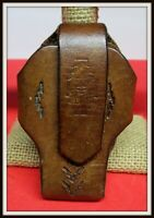 Hand Tooled Leather Small Phone or Lighter Holder with Clip Maker Marked