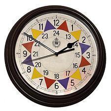 "RAF 1940 ""Battle of Britain"" Pattern Replica Sector Wall Clock 12"" / 30.5cm"
