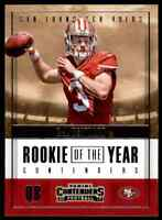 2017 PANINI CONTENDERS ROOKIE OF THE YEAR C.J. BEATHARD RC 49ERS #RY-5 INSERT