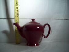 Tea Pot Maroon Color, McCormick Tea, Baltimore Md, Made in USA