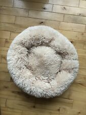 New listing Alpha Paw Cozy Calming Dog Bed - Comfy Anti Anxiety Plush Dog Bed - Small