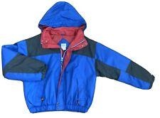 VTG Catalina C-Tek Colorblock Coat Jacket Mens LARGE Blue Red Nautical Nylon Hat
