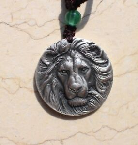 China 30mm Silver Medal/Pendant - Lion