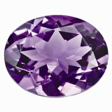 OVAL-FACET NATURAL BRAZILIAN AMETHYST: SIZES AVAILABLE FROM 5x3mm - 20x15mm