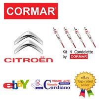 KIT 4 CANDELETTE CITROEN BERLINGO 1.8 1.9 D DA ANNO 98 CORMAR