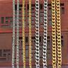 Women Men Stainless Steel Cuban Curb Link Hip Hop Choker Chain Necklace Jewelry@