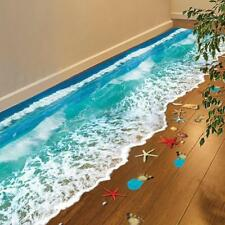 Beach 3d Floor Sticker Wall Vinyl Art Removable Mural Decals Living Room Decor