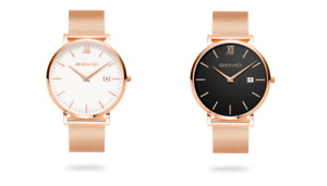 Olympus Classic Men's Rose Gold and Midnight Rose Gold Watches