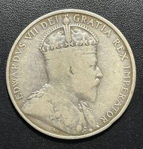 Cyprus 1907 18 Piastres Silver Coin: Scarce--see description