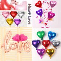 "10"" 5pcs Heart Love Shape Foil Helium Balloons Wedding Birthday Party Home Decor"