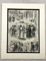 1875 Print Manchester Local History Sultan of Zanzibar Visit Antique Original