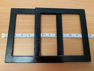 Pair (2) Black Wood Square Shaped Bag Handles for Knitting or Sewing