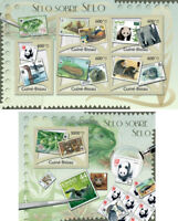 Animals Tiere Birds Fauna Pandas Bears WWF on Stamps Guinea-Bissau MNH stamp set