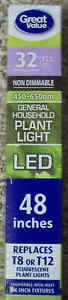 """Great Value 48"""" 15.5W LED Grow Plant Light Bulb Tube 32W T8 / 40W T12 - Save 2+"""