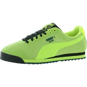 Puma Mens Roma HM Yellow Fitness Trainers Sneakers Shoes 8 Medium (D) BHFO 2241