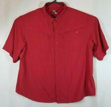 Habit Fishing Shirt Mens 2XL Brick Red Solar Factor 30+