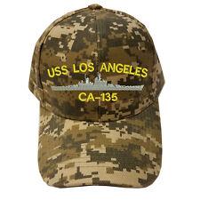 DIGITAL CAMO CAMOUFLAGE USS LOS ANGELES CA-135 SHIP LOGO Military Cap Hat