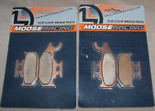 4 NEW Moose Racing XCR Comp Brake Pads Bombardier Can-Am Suzuki Yamaha M919-S47