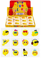72 Smiley Temporary Tattoos (6 Bags Of 12) - Pinata Loot/Party Bag Fillers Kids