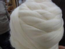 Merino 1 kg Natural White Wool Top Roving 20/21 Micron . Spin, Dye, Felt, Knit