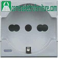 BTICINO AXOLUTE tech presa schuko P30 bipasso universale HC4140/16
