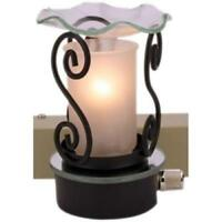 Frosted Glass Plug In Burner Tart Oil Warmer Wall Outlet Night Light Diffuser