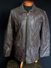 RARE VINTAGE 1950'S HEAVYWEIGHT BROWN HORSEHIDE LEATHER JACKET SIZE EXTRA LARGE
