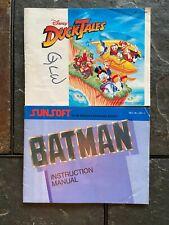 NINTENDO NES DISNEY DUCKTALES & BATMAN GAME BOOKLETS ITEM #4979-15