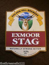 BEER PUMP CLIP - GOLDEN HILL EXMOOR STAG