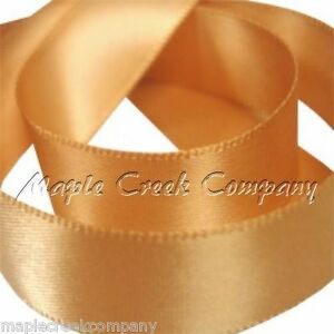"""2yd of Anique Gold 7/8"""" Double Face Satin Ribbon 7/8"""" x 2 yards neatly wound"""