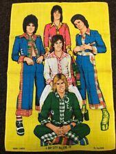 Bay City Rollers Tea Towel 1975 Yellow Teatowel Pure Irish Linen By Ulster 75