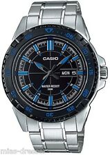 Casio MTD1078D-1A2 Men's Stainless Steel 100M Day/Date Diver Dress Watch NEW