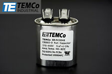 TEMCo 5 uf/MFD 370-440 VAC volts Oval Run Capacitor 50/60 Hz -Lot-1