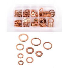 200Pcs O-Ring Copper Gasket Accessories For Oil Drain Plug Hydraulic Fittings