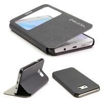 Handyhülle für Samsung Galaxy Note 5 View Flip Wallet Case Cover Tasche Schale